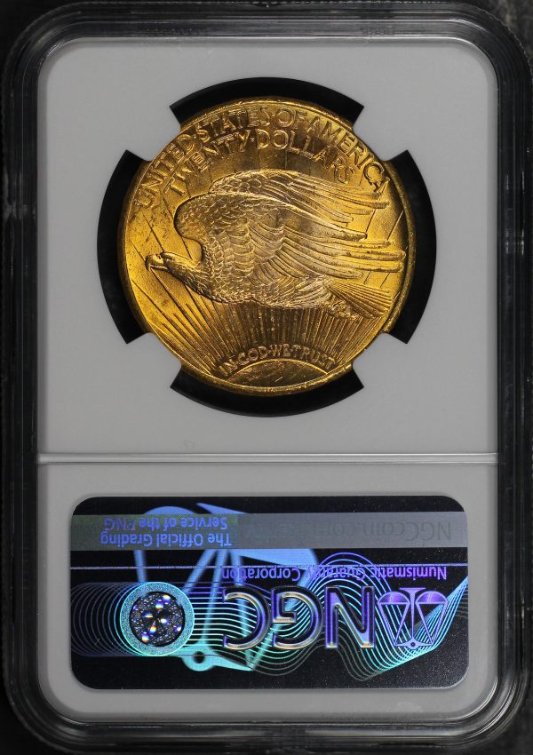 Reverse of this 1927 St. Gaudens $20 NGC MS-65