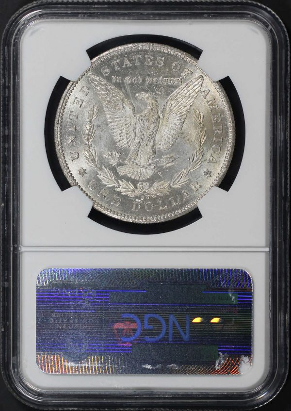 Reverse of this 1878-CC Top-100 Morgan Dollar VAM 6 Ddo Leaves NGC MS-64