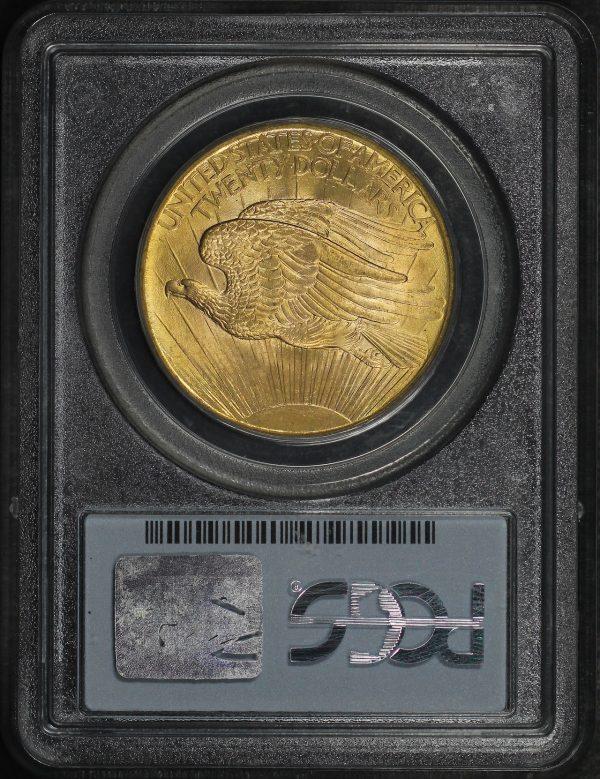 Reverse of this 1908 St. Gaudens $20 No Motto PCGS MS-66 Wells Fargo (Copy)