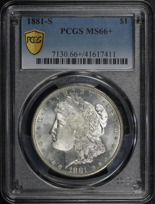 Obverse of this 1881-S Morgan Dollar PCGS MS-66+