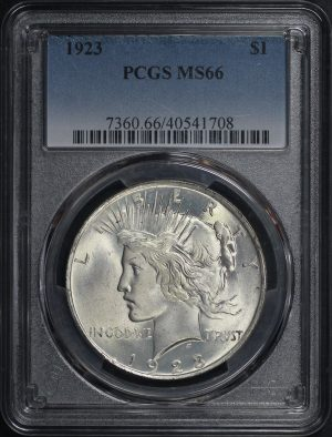 Obverse of this 1923 Peace Dollar PCGS MS-66