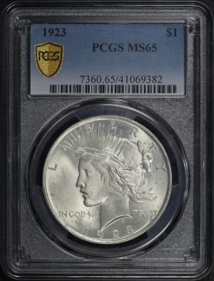 Obverse of this 1923 Peace Dollar PCGS MS-65