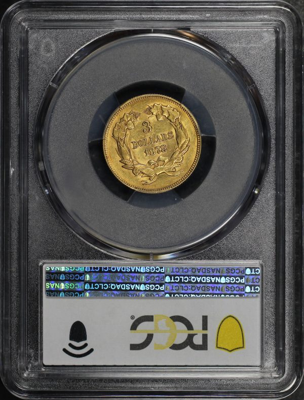 Reverse of this 1878 Three Dollar PCGS AU-58