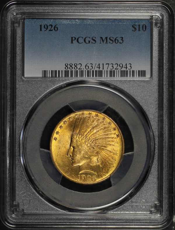 Obverse of this 1926 Indian $10 Motto PCGS MS-63
