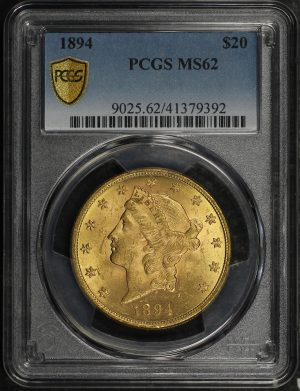 Obverse of this 1894 Liberty Head $20 Type 3 PCGS MS-62