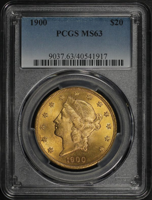 Obverse of this 1900 Liberty Head $20 Type 3 PCGS MS-63
