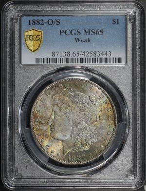 Obverse of this 1882-O/SWeak Morgan DollarPCGS MS-65
