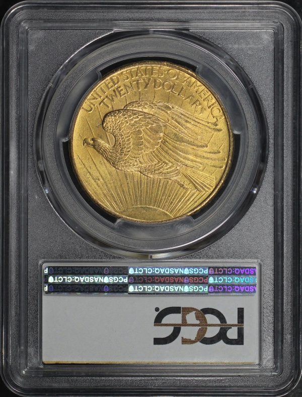 Reverse of this 1908 St. Gaudens $20 No Motto PCGS MS-64
