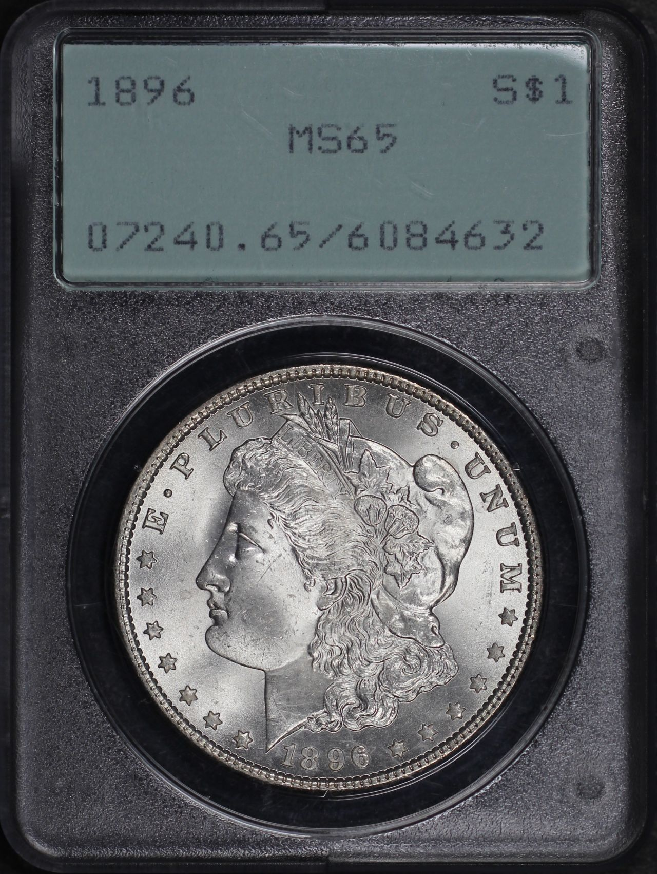 Obverse of this 1896 Morgan Dollar PCGS MS-65