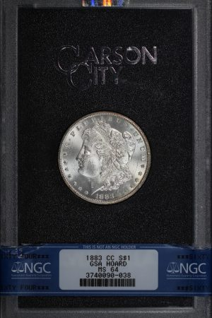 Obverse of this 1883-CC Morgan Dollar NGC MS-64 GSA Hard Pack With Box & COA
