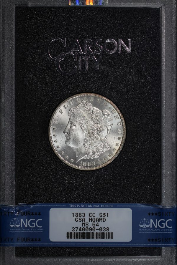 Obverse of this 1883-CC Morgan Dollar NGC MS-64 GSA Hard Pack With Box