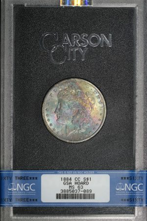 Obverse of this 1884-CC Morgan Dollar NGC MS-63 GSA Hard Pack With Box & COA