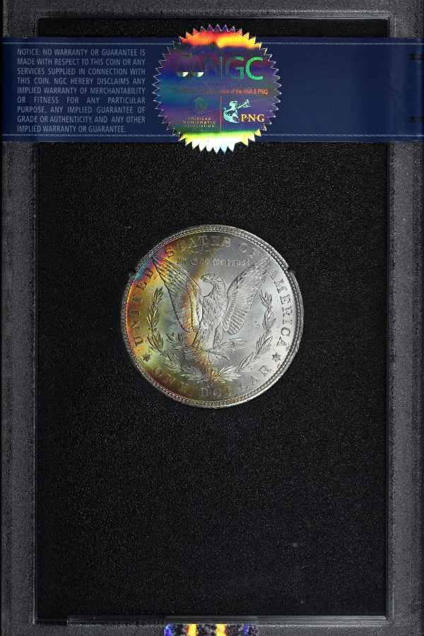 Reverse of this 1884-CC Morgan Dollar NGC MS-63 GSA Hard Pack With Box & COA