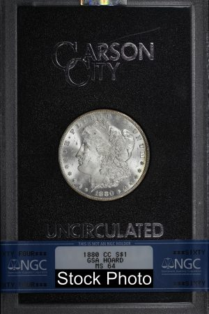 Obverse of this 1880-CC Morgan DollarNGC MS-64 GSA Hard Pack With Box & Dated COA