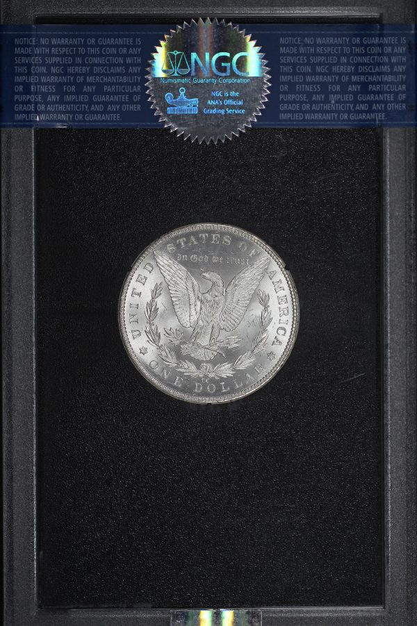 Reverse of this 1882-CC Morgan Dollar NGC MS-64 GSA Hard Pack With Box & Dated COA