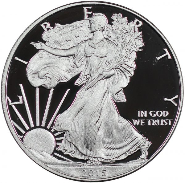 Obverse of this 2015-W American Silver Eagle Proof