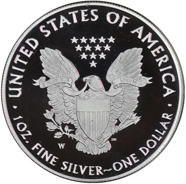 Reverse of this 2012-W American Silver Eagle Proof