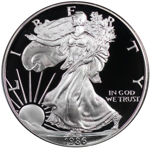 Obverse of this 1986-S American Silver Eagle Proof